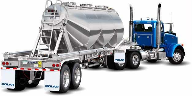 蓝色槽罐车油罐车危险品运输卡车特种运输车142725png图片素材