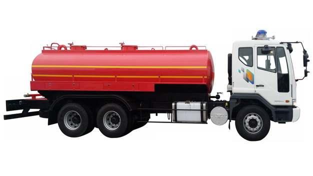 红色槽罐车油罐车危险品运输卡车侧视图807358png图片素材