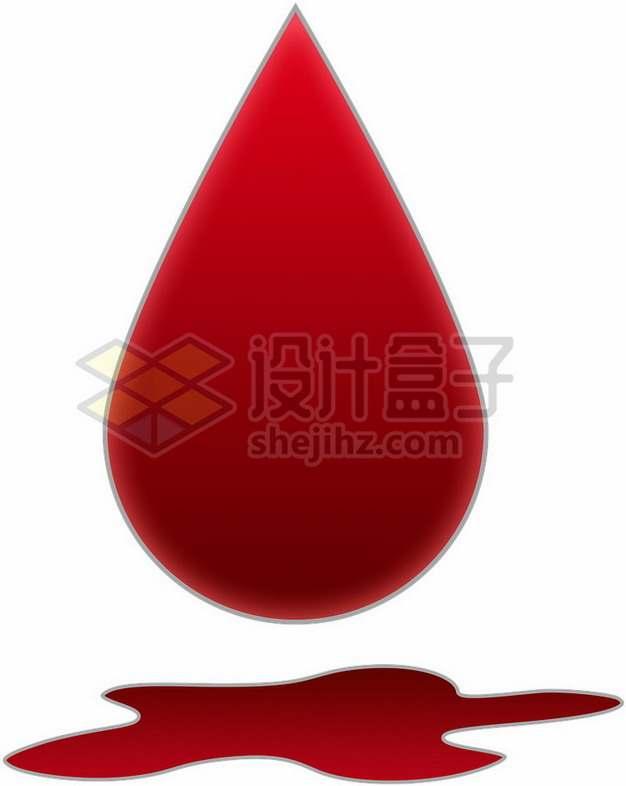 一滴鲜血无偿献血png图片素材