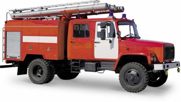 红色消防云梯车633292png图片素材