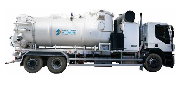 白色槽罐车油罐车危险品运输卡车侧视图674184png图片素材 交通运输-第1张
