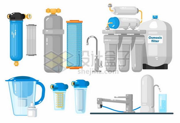 各种净水器自来水过滤器png图片素材 生活素材-第1张