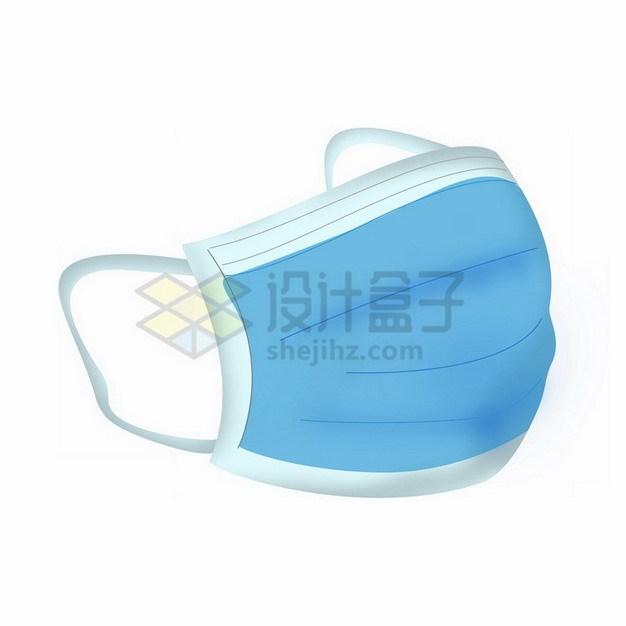 手绘风格的蓝色一次性医用口罩376323png免抠图片素材 健康医疗-第1张