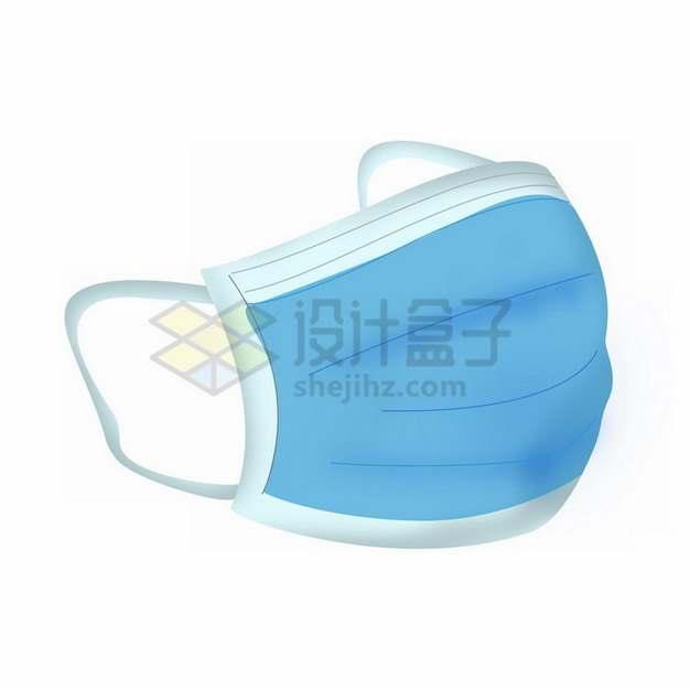 手绘风格的蓝色一次性医用口罩376323png免抠图片素材