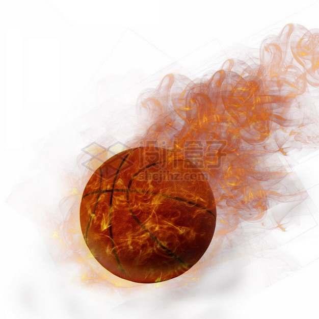 燃烧着火焰的篮球特效果8683432png图片素材