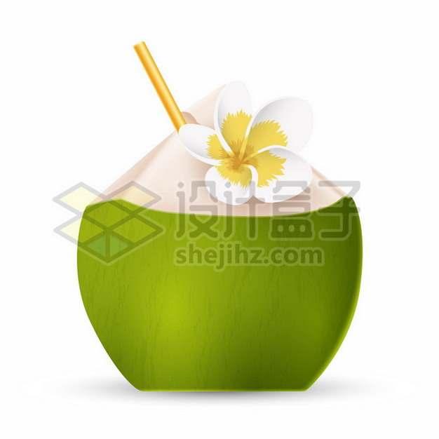 打开的椰子椰青png图片素材
