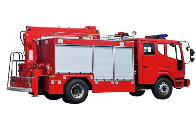 红色消防车侧后方视图700796png图片素材