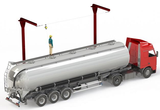 槽罐车油罐车危险品运输卡车工作示意图510595png图片素材 交通运输-第1张