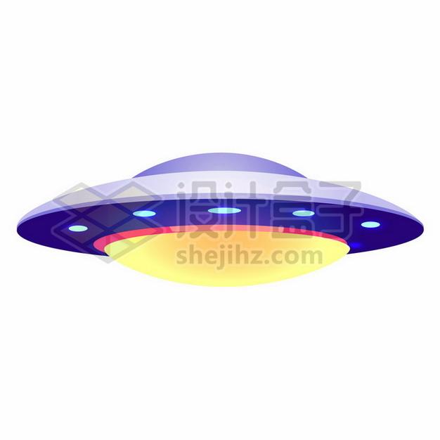 紫色卡通飞碟UFO不明飞行物png图片素材205214 军事科幻-第1张