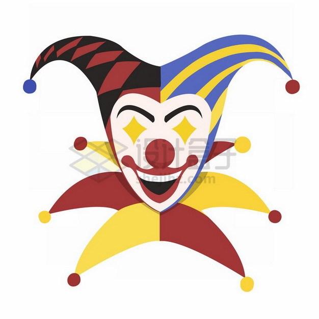 卡通小丑头像684309png免抠图片素材 节日素材-第1张