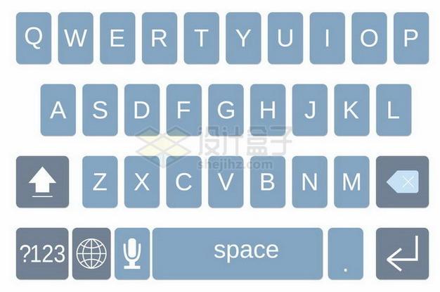 拼音26键手机输入法键盘样式png图片免抠矢量素材 UI-第1张