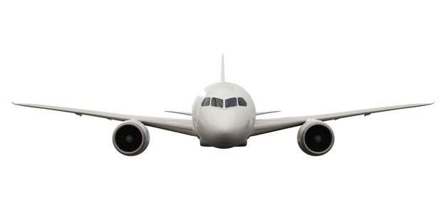 空客A320大中型客机飞机正面图png免抠图片素材