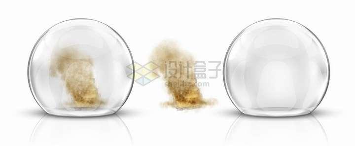 玻璃罩中的燃烧的灰烬png图片免抠矢量素材
