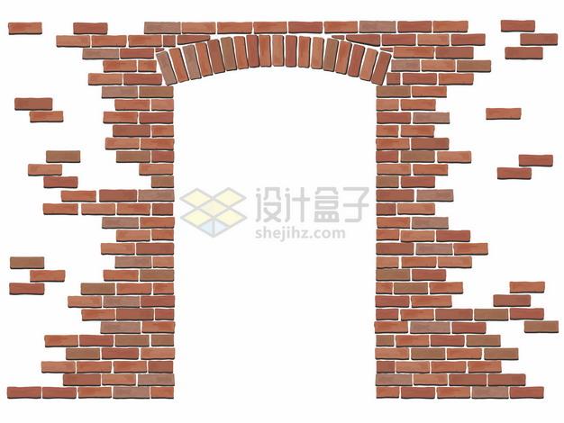 砖块建造的大门png图片矢量图素材 建筑装修-第1张