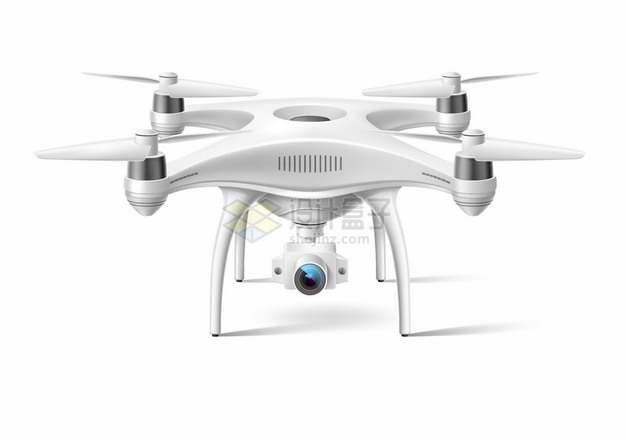 白色的四轴飞行器航拍无人机832346png图片素材