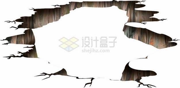 地面沉降干裂龟裂的土地黑色裂纹裂缝772984png图片素材