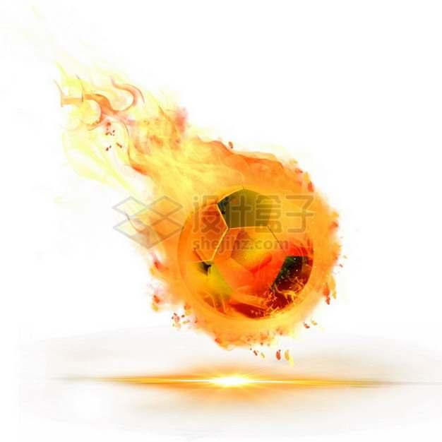 燃烧着火焰的足球特效果8643824png图片素材