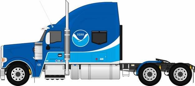 蓝色卡车头拖车418952png图片素材