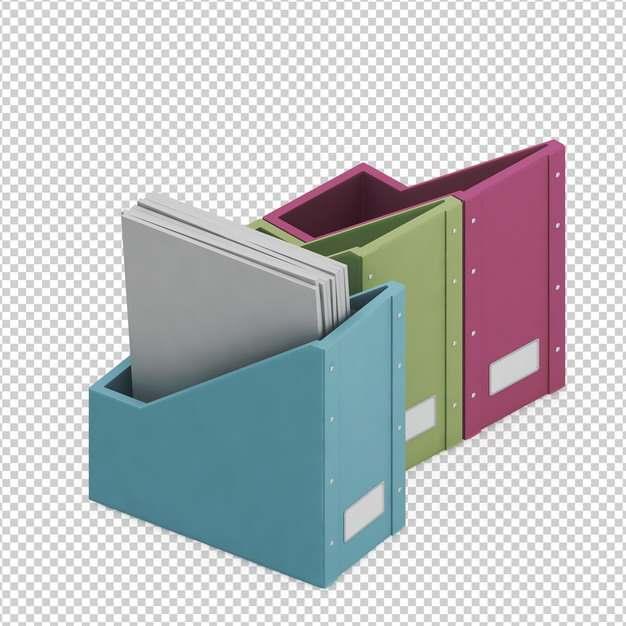 彩色文件架文件资料架办公用品png免抠图片素材