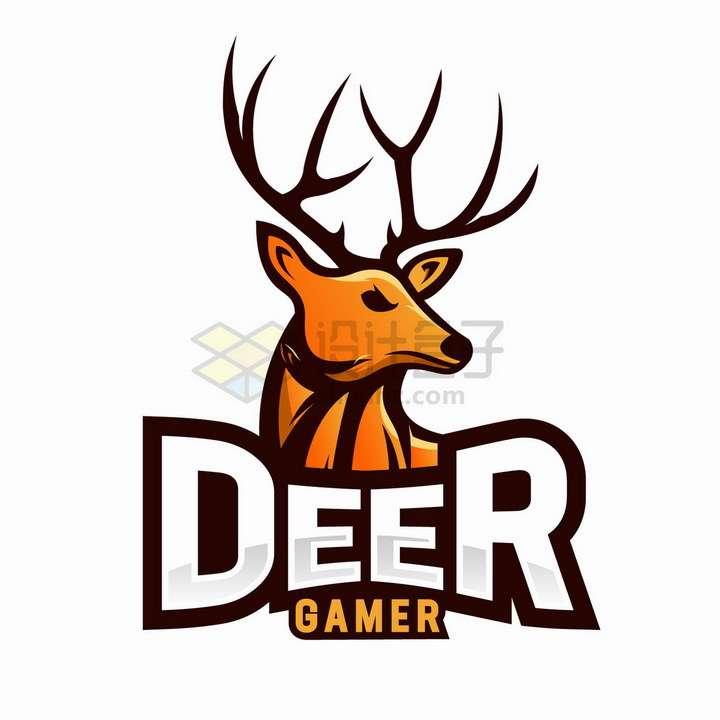 愤怒的驯鹿游戏logo设计png图片免抠矢量素材