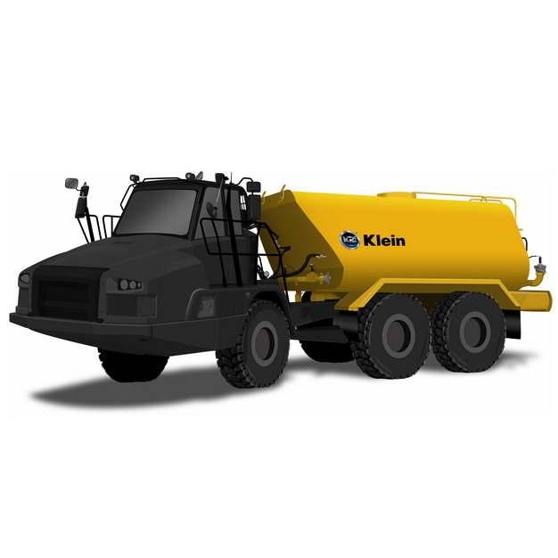 黄黑色槽罐车油罐车危险品运输卡车特种运输车605587png图片素材