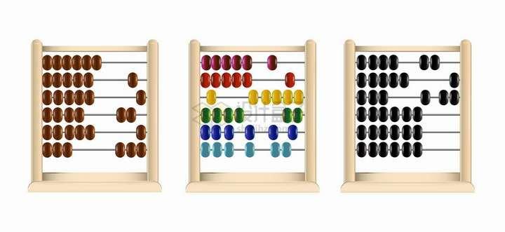 三款算盘珠算架儿童益智玩具png图片免抠矢量素材