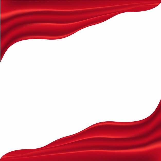 对角线的飘扬的红色绸缎面丝绸红旗装饰524877png图片素材