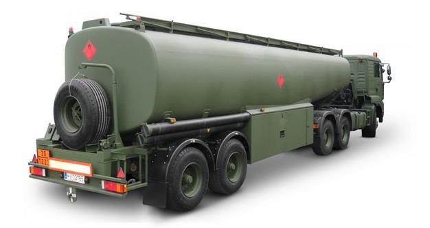 军绿色槽罐车油罐车危险品运输卡车651533png图片素材 交通运输-第1张