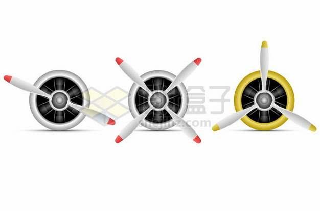 3款螺旋桨飞机的螺旋桨发动机977005 png图片素材