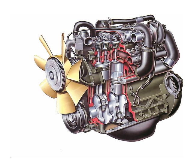 彩绘风格汽车发动机解剖图5389684png图片素材 工业农业-第1张