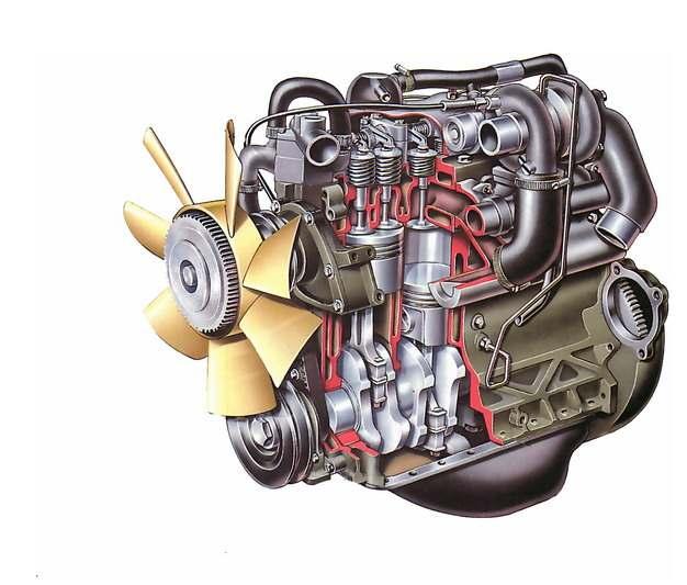 彩绘风格汽车发动机解剖图5389684png图片素材
