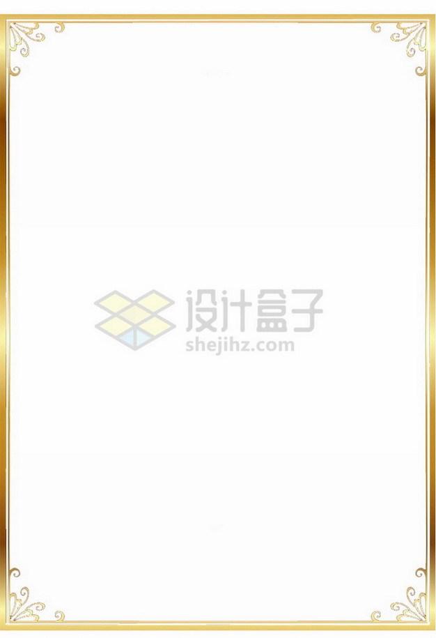 金色光泽边框6532953png免抠图片素材 边框纹理-第1张