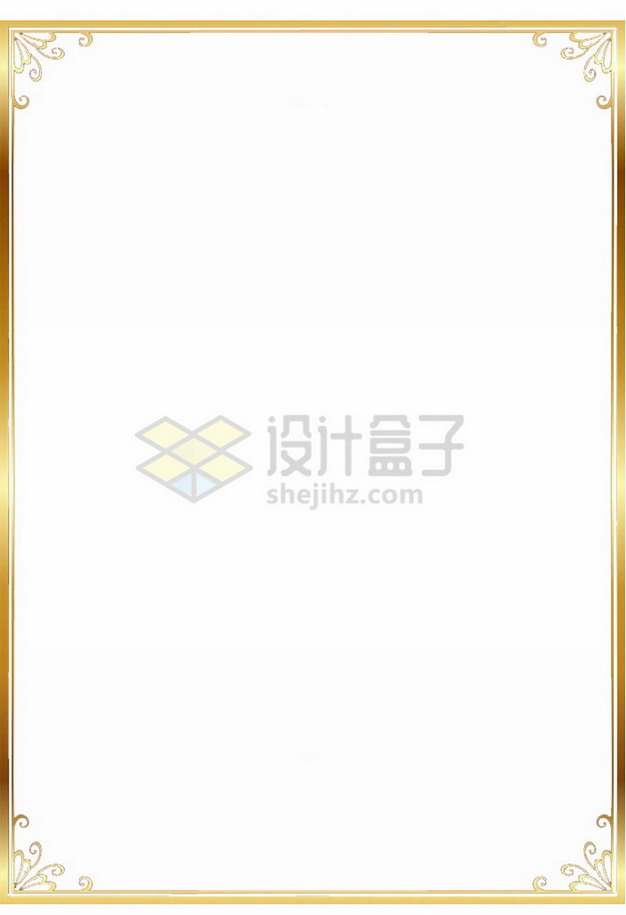 金色光泽边框6532953png免抠图片素材