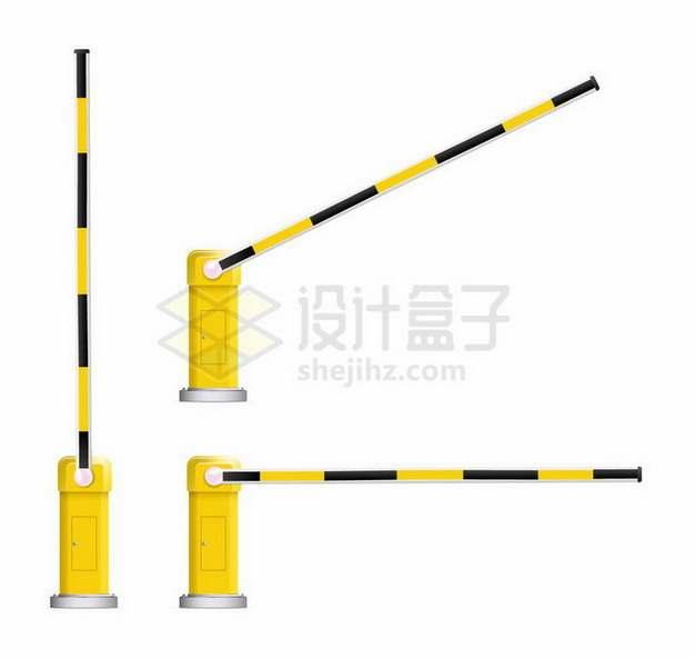 黄色自动栏杆机车库抬竿机png图片免抠矢量素材