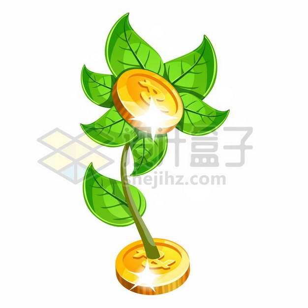 摇钱树上的金币png图片素材553083