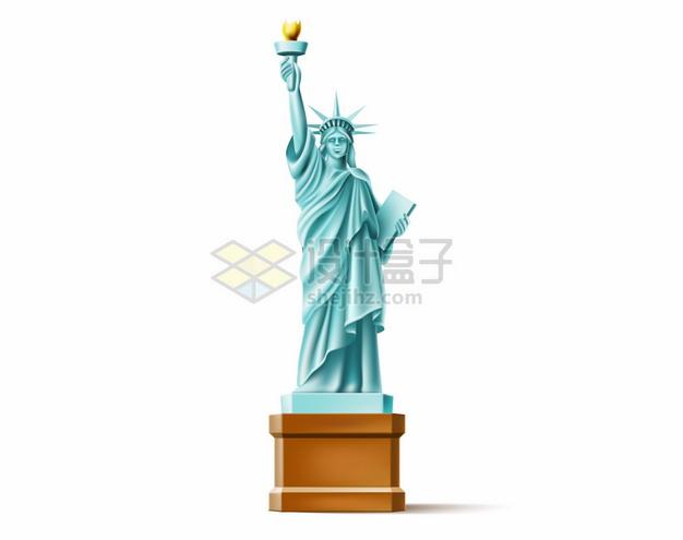 卡通纽约自由女神像990297png图片矢量图素材 建筑装修-第1张