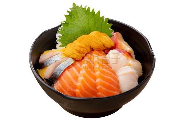 三文鱼海胆海鲜饭日式料理516320png图片素材