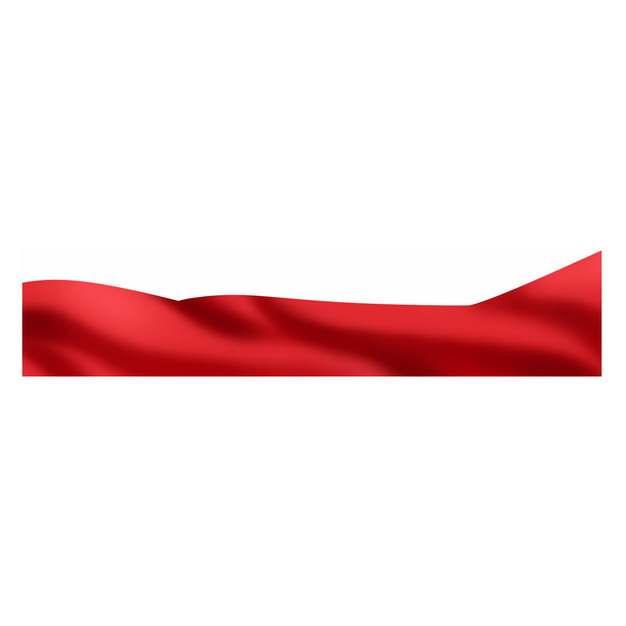 飘扬的红色绸缎面丝绸丝带装饰945295png图片素材