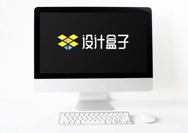 苹果iMac pro电脑显示界面和鼠标键盘psd样机图片模板素材