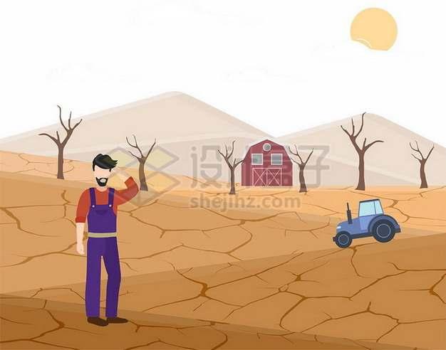 旱灾干旱的土地世界防治荒漠化和干旱日png图片素材