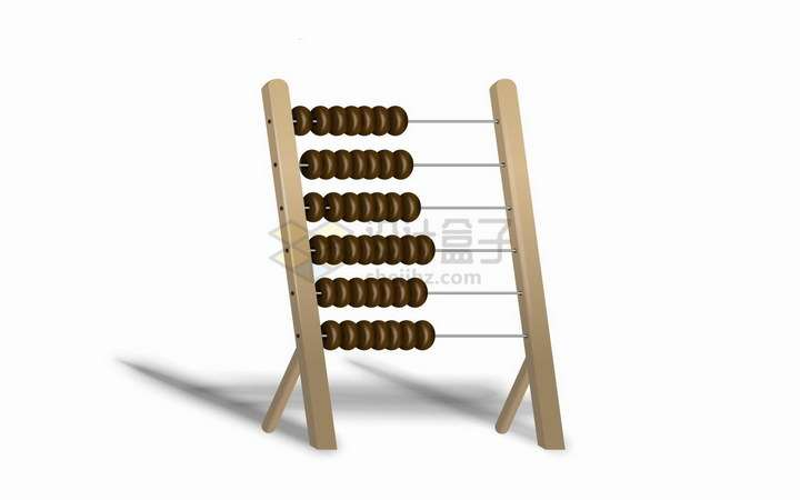 一款比较大的算盘珠算架儿童益智玩具png图片免抠矢量素材