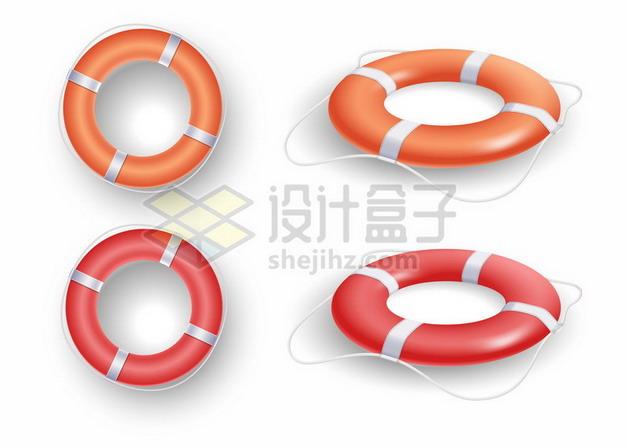 两种颜色的救生圈png图片素材