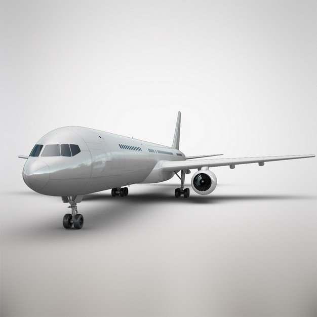 停在地面的波音787/777大型客机飞机正面图png免抠图片素材