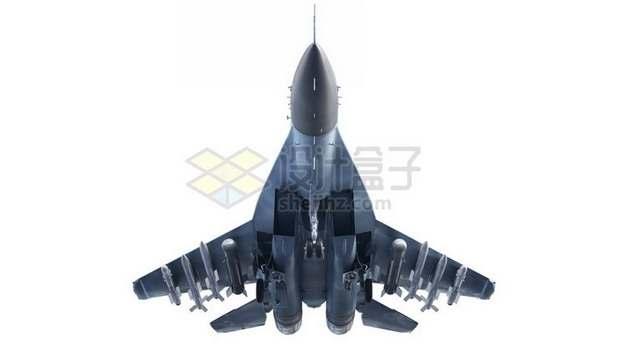 霸气的苏30战斗机下视图png免抠图片素材