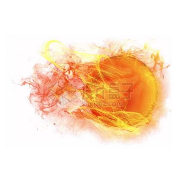 燃烧着火焰的篮球特效果2323132png图片素材