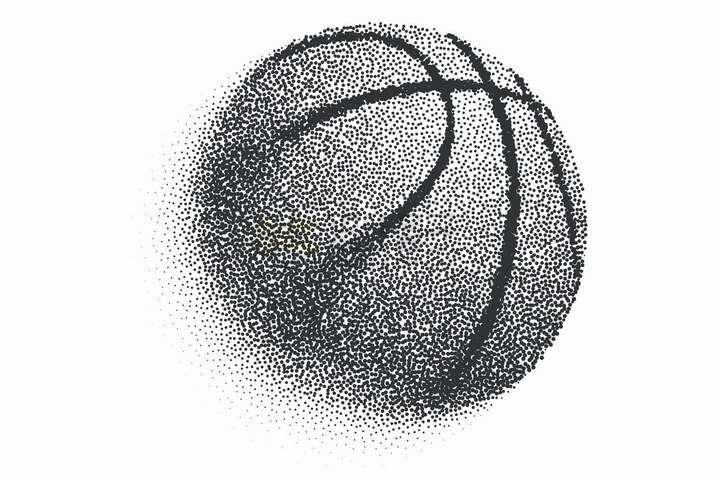 黑点组成的创意篮球png图片免抠矢量素材