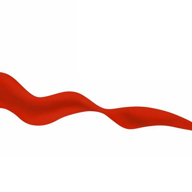 飘舞的红色绸缎丝绸飘带装饰743793png图片素材