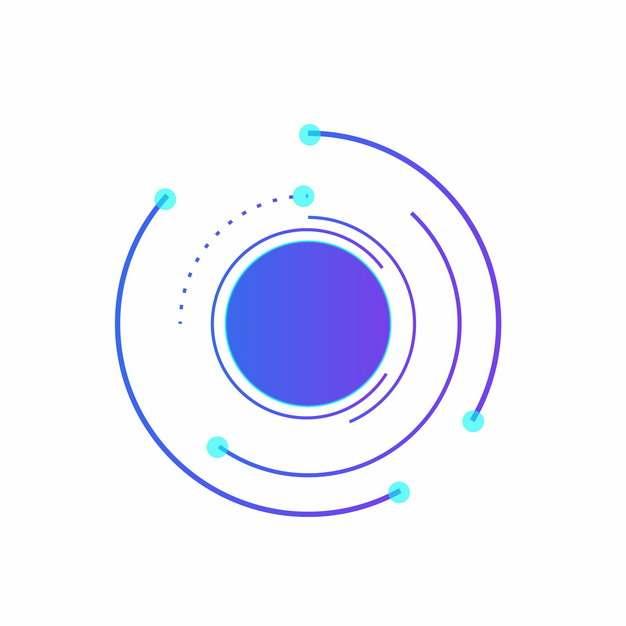 创意紫色科技感圆形线条装饰981422png图片AI矢量图素材