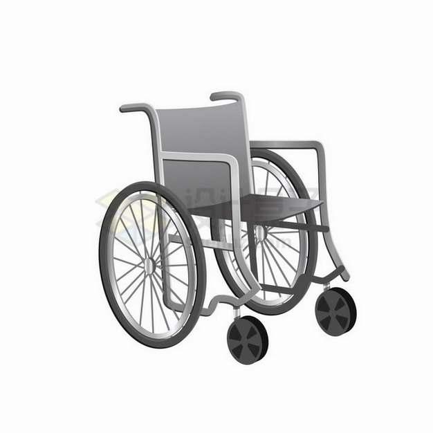 灰色的轮椅医疗用品png图片免抠矢量素材