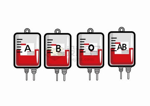 不同血型的卡通血袋693212png免抠图片素材 健康医疗-第1张